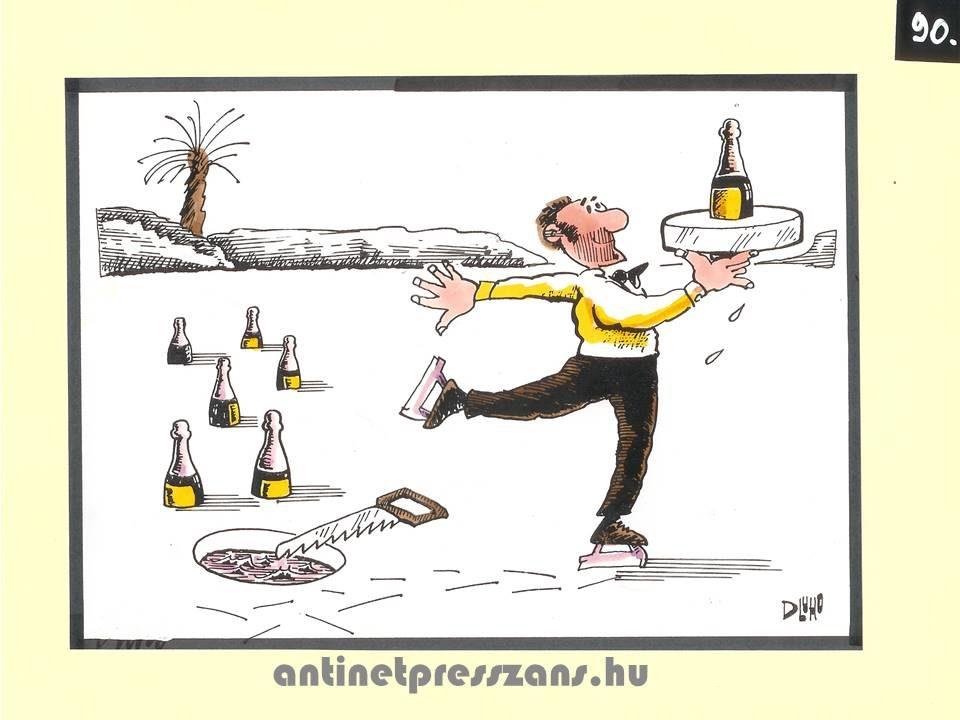 Tréfás karikatúra Dluhopolszky László