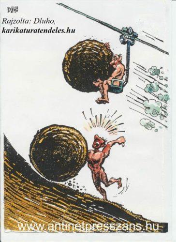 Sport karikatúra Dluhopolszky László