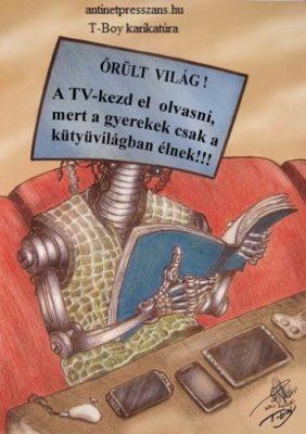 Poén rajz T-Boy (Gaál Tibor)