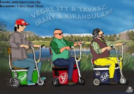 Tavasz karikatúra T-Boy (Gaál Tibor),