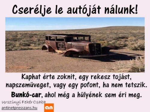Humoros autóreklám