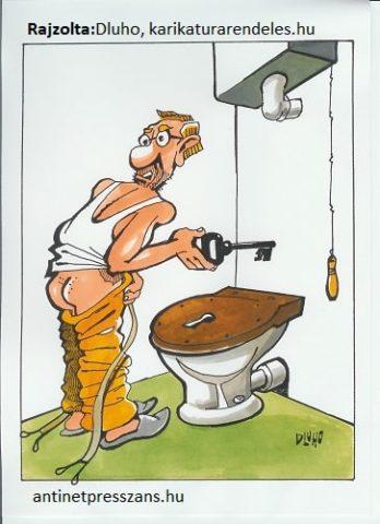 Albérlet karikatúra Dluhopolszky László