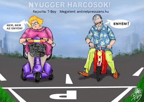 Karikatúra poén T-Boy (Gaál Tibor)