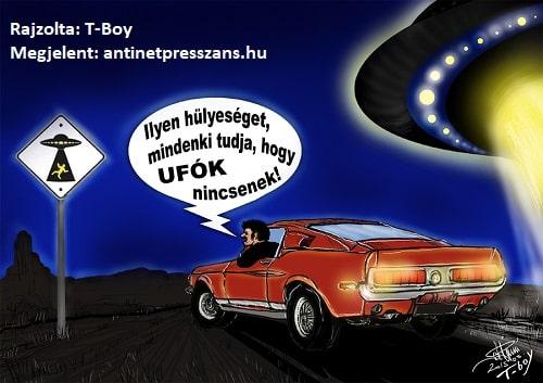 Ufó karikatúra T-Boy (Gaál Tibor),
