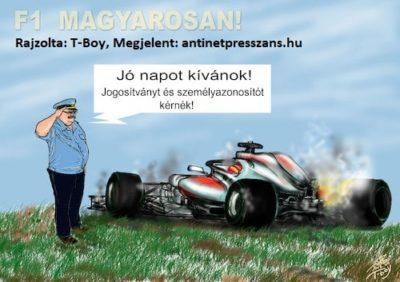 Autóverseny karikatúra Rajzolta: T-Boy (Gaál Tibor)