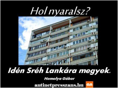 Nyaralás szóvicc humor Homolya Gábor