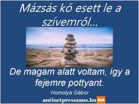 Humoros köves szójáték Homolya Gábor