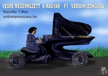 Zongora karikatúra Rajzolta: T-Boy (Gaál Tibor)