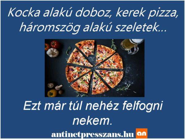 Vicces pizza