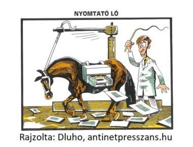 Lovas poén karikatúra Rajzolta: Dluhopolszky László