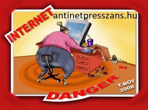 Humoros internet karikatúra Rajzolta: T-Boy (Gaál Tibor)
