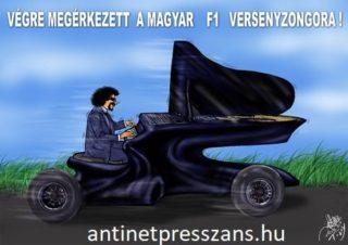 Humoros zongora karikatúra