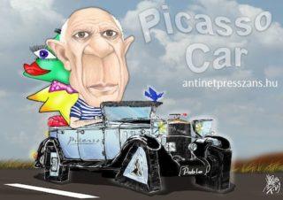 Picasso autója Festői vicces humor