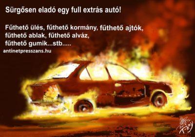 humoros autós hirdetés