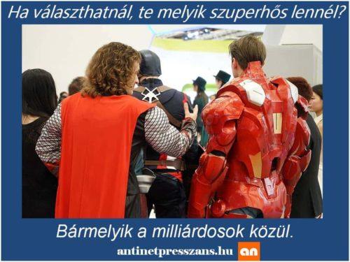 Vicces humoros szuperhős