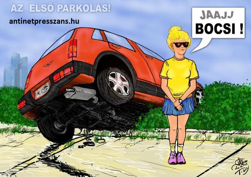 Vicces parkolás humor