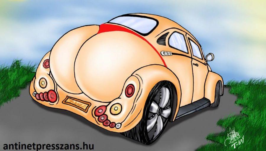 Vicces autó modell