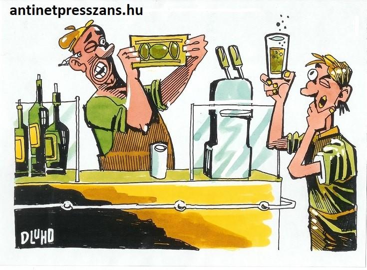 Kocsmázós karikatúra