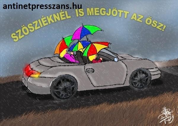 Sportkocsi karikatúra