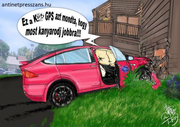 Humoros navigációs karikatúra