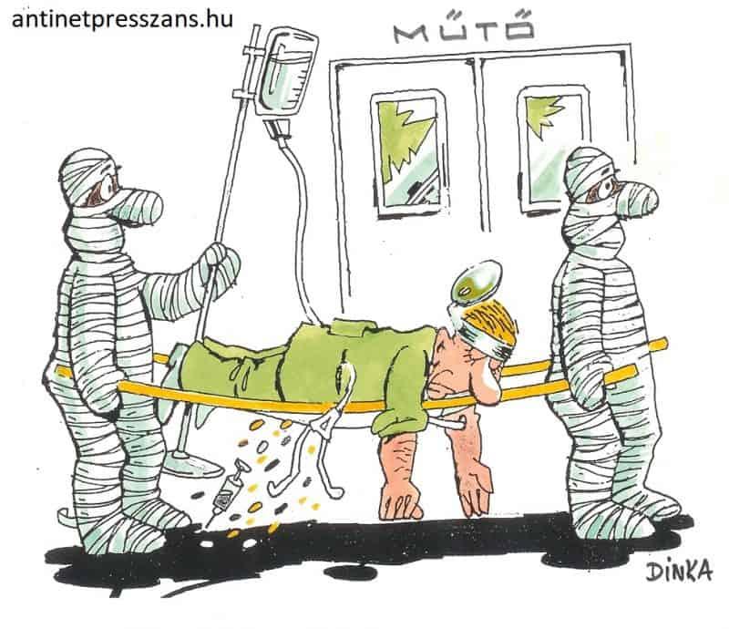 Kórház karikatúra