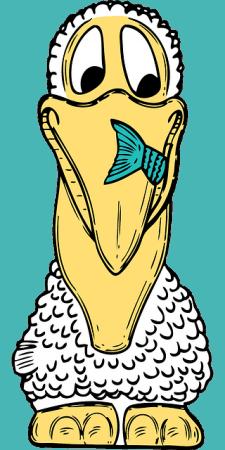 Humoros pelikán leírás