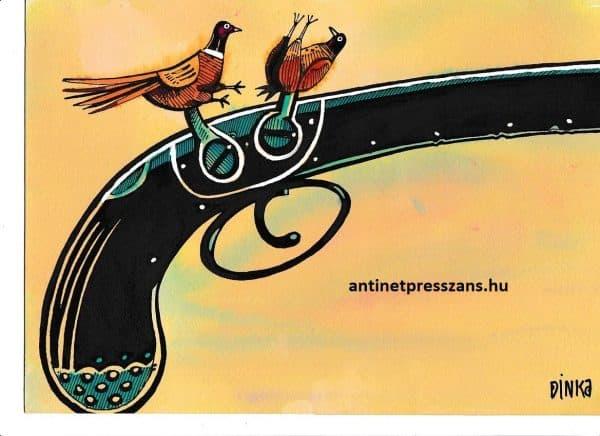 Vicces vadászat karikatúra