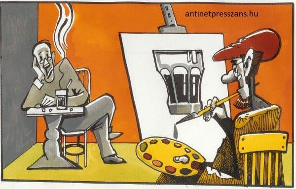 Vicces festészet humor