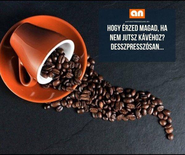 Vicces kávézás poén