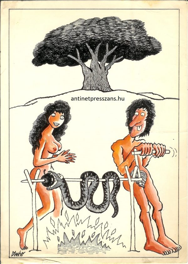 Humoros Éden karikatúra