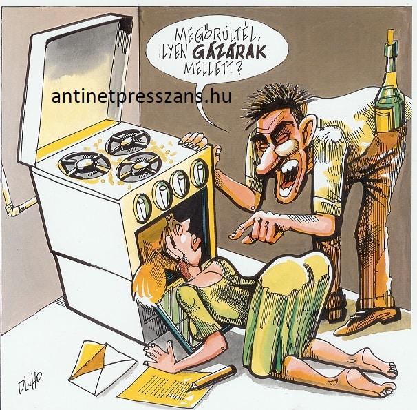 Vicces gáz karikatúra