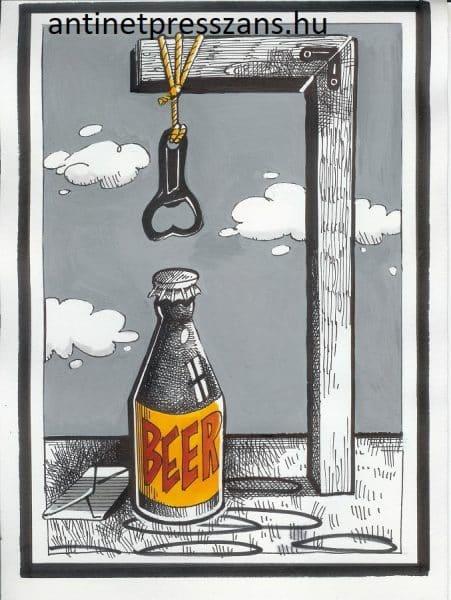 Humoros sör karikatúra