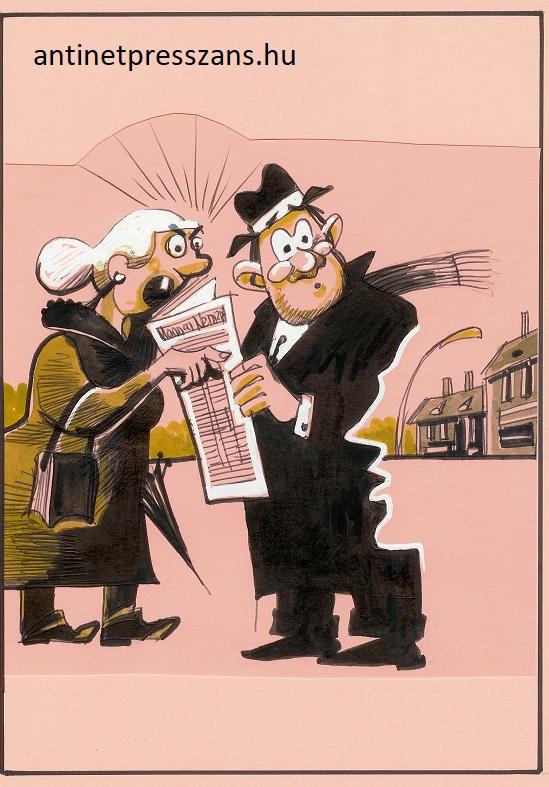 Pletyka karikatúra