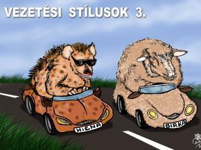 Vezetési stílus karikatúra