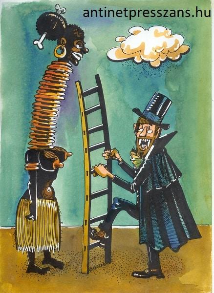 Humoros Drakula karikatúra