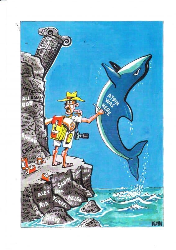 Delfines turista karikatúra)